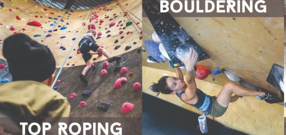 Bouldering vs Top Rope