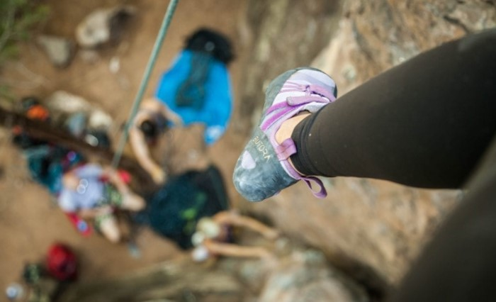 Why shrink climbing shoes