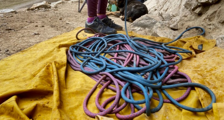 How to keep your climbing rope from getting wet